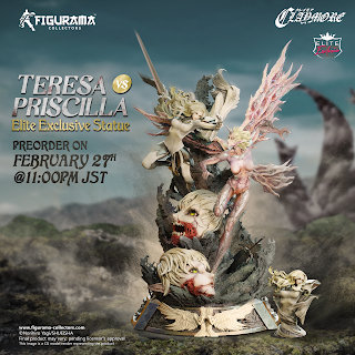 Teresa vs. Priscilla Elite Exclusive Statue de Claymore, Figurama Collectors