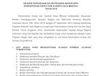 Seleksi Pengadaan CPNS Kementerian Energi dan Sumber Daya Mineral Tahun 2019