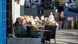 Iceland shopping street in AKUREYRI