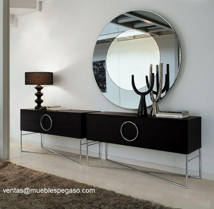 Muebles pegaso modernos espejos y aparadores for Espejos decorativos para salon baratos