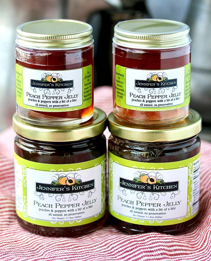 jars of pepper jelly from Jennifer's Kitchen