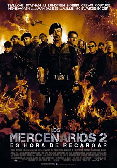 Los Mercenarios 2 DVDRip Español Latino Película 2012
