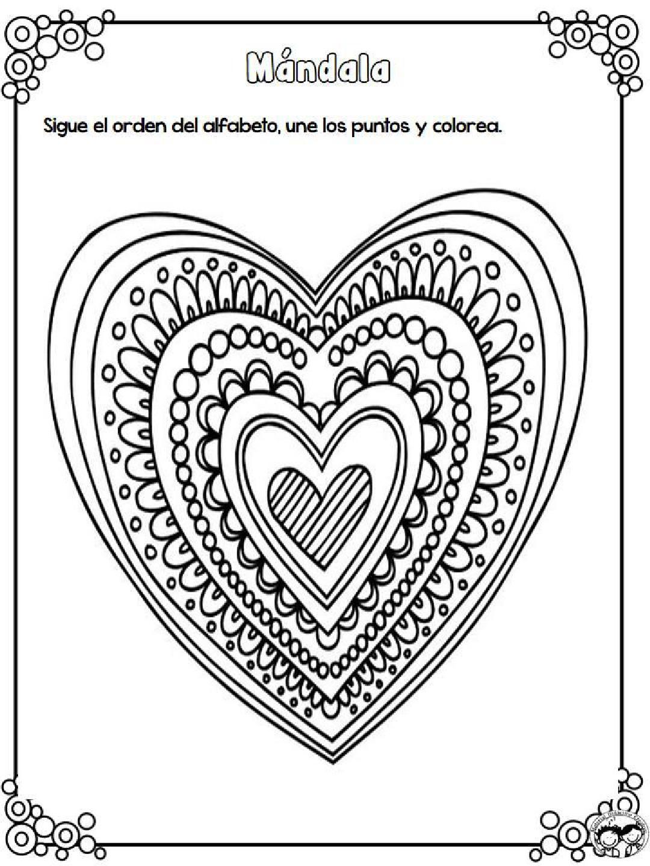 Tareitas: Mandala de corazones