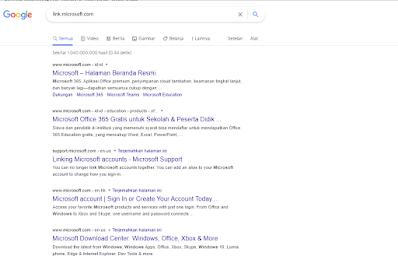 perintah dork google link