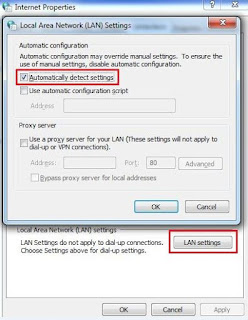 Local area network settings, network troubleshoot, browsing issue