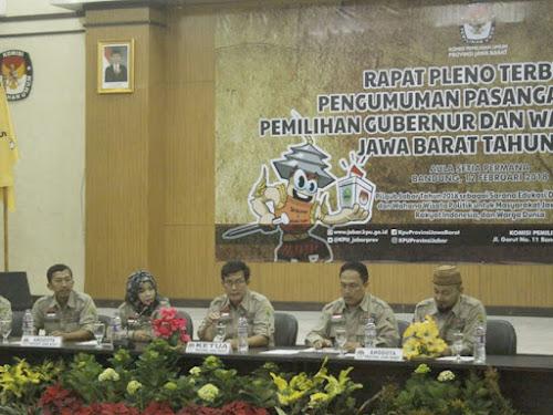 Rapat Pleno KPU Jawa Barat
