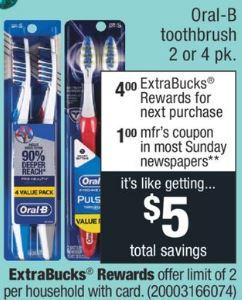 FREE Oral-B Toothbrush at CVS - 7/28-8/3