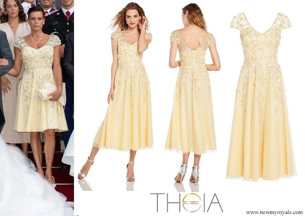 Princess Stephanie wore THEIA Beaded Cocktail Dress