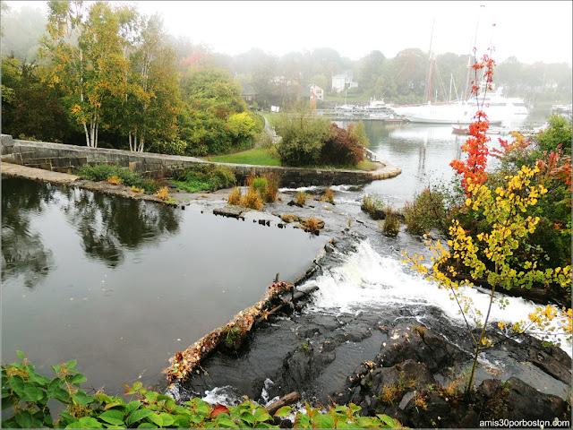 Megunticook Falls en Camden, Maine