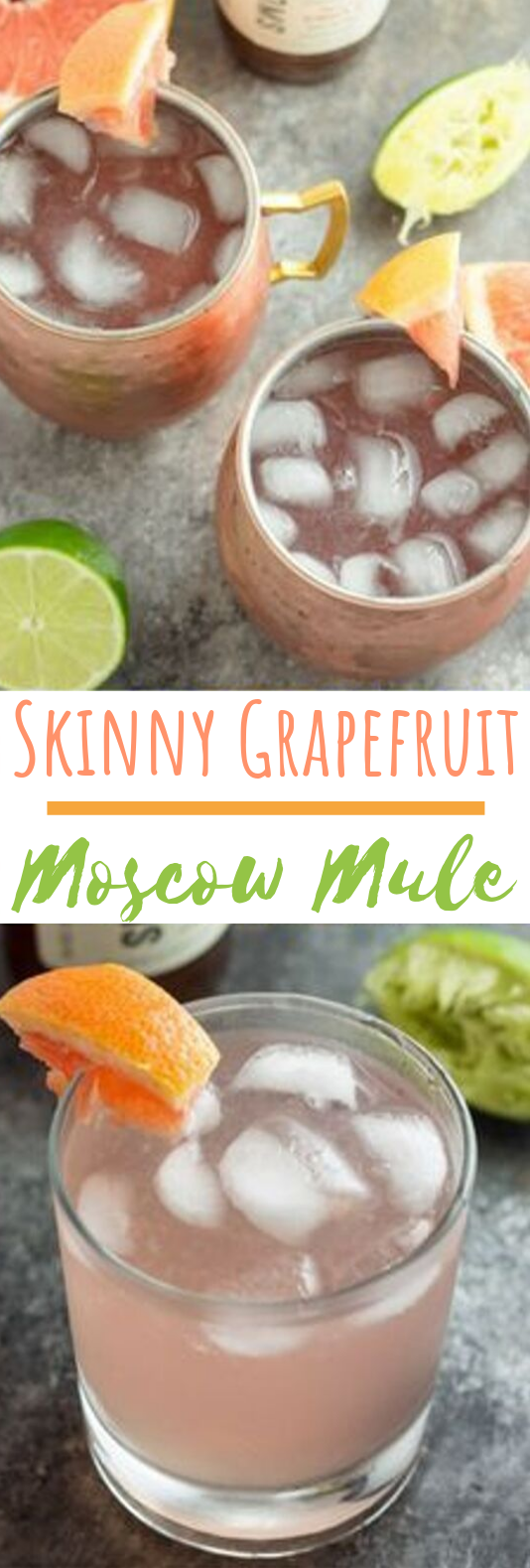 Skinny Grapefruit Moscow Mule #drinks #alcohol