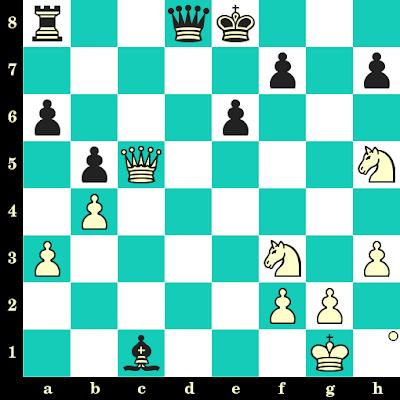 Les Blancs jouent et matent en 2 coups - Kateryna Lahno vs Lela Javakhishvili, Khanty Mansyisk, 2017
