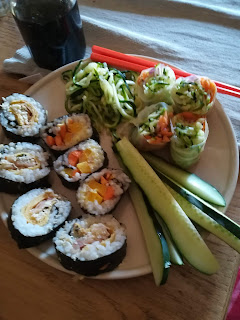sushi di verdure, sushi fatto in casa