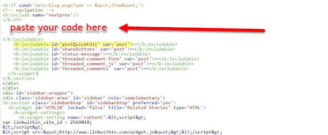 paste the code above </b:includable>