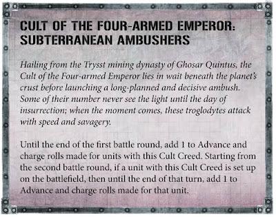 reglas Culto del Emperador de Cuatro Brazos