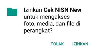 izinkan aplikasi mengakses media