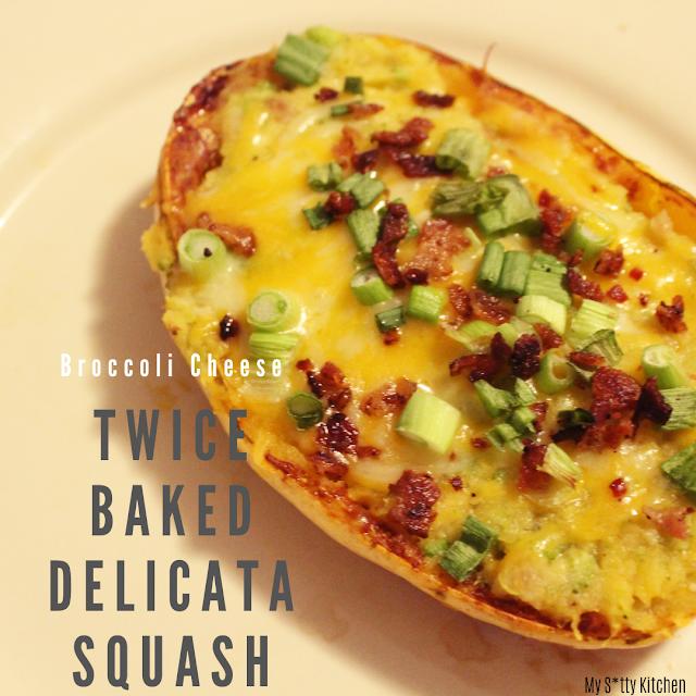 Twice Baked Broccoli Cheese Delicata Squash