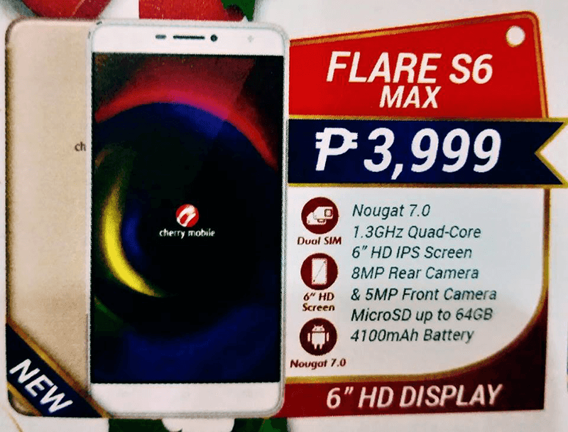 Cherry Mobile Flare S6 Max