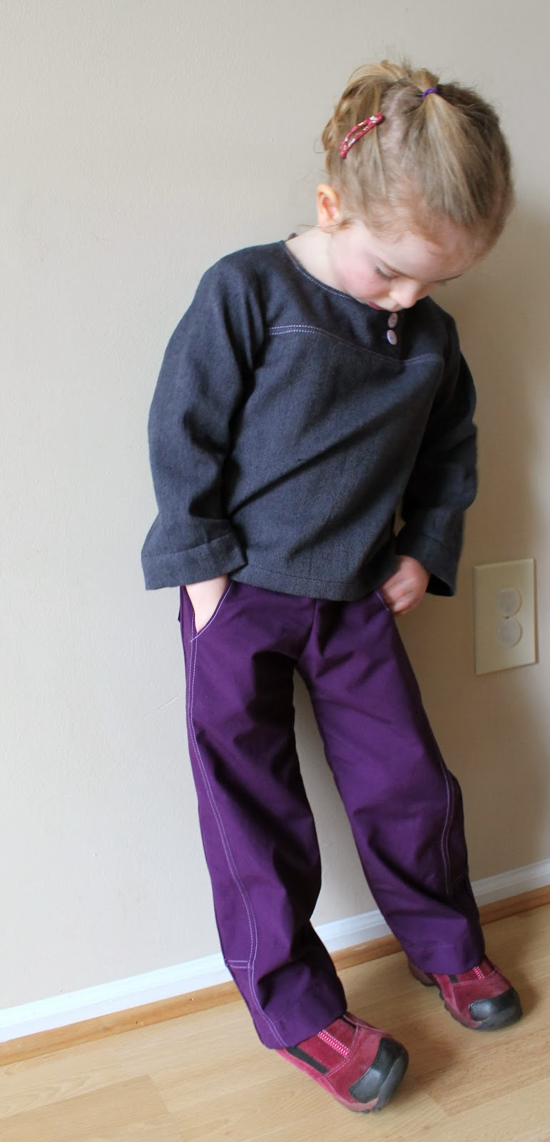 Oliver + S After-School Shirt & Pants | Create a sporty look with lots of top-stitching | The Inspired Wren