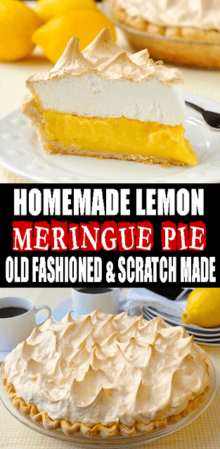 HOMEMADE #LEMON MERINGUE #PIE. #OLDFASHIONED & SCRATCH MADE!
