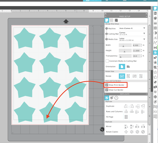 print and cut, printables, silhouette studio troubleshooting, Fill Page, Printer for Silhouette