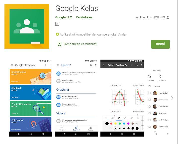Install Aplikasi Google Classroom di Hanphone