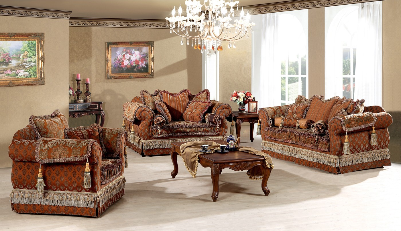 Simplicity is the keynote of all true elegance royal - Traditional sofa sets living room ...