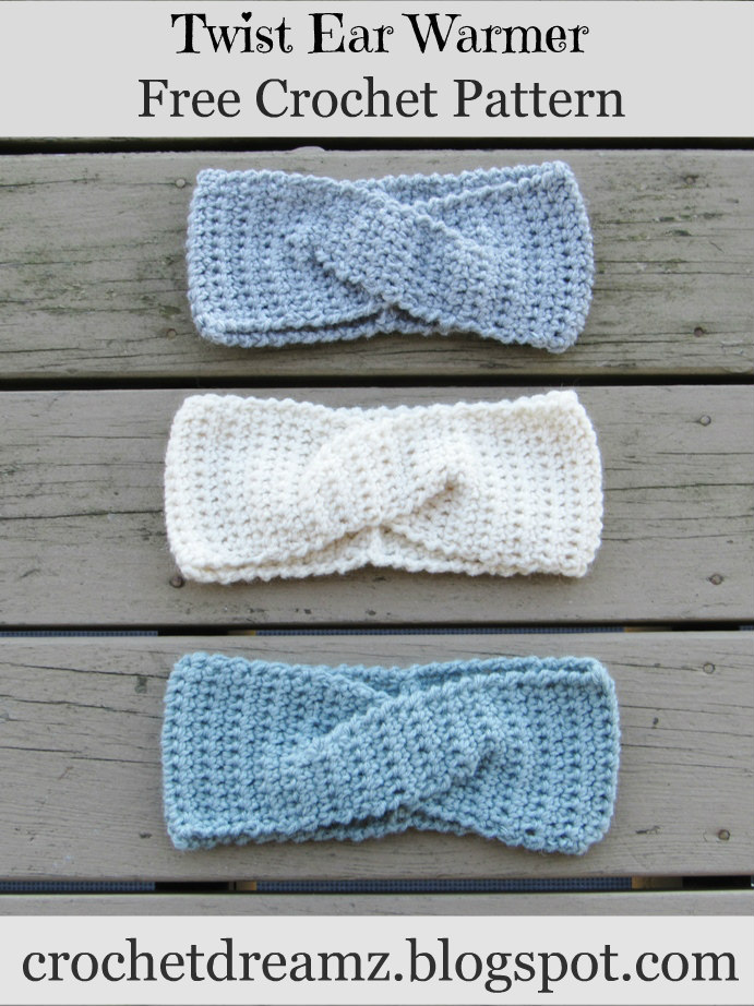 Crochet Dreamz: How to Crochet a Quick Twist Headband or Earwarmer ...