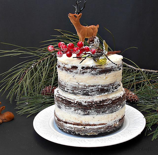 naked cake de natal