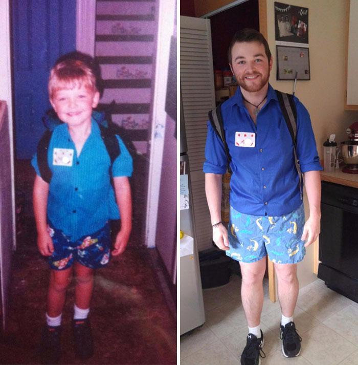 Primeiro e último dia de escola