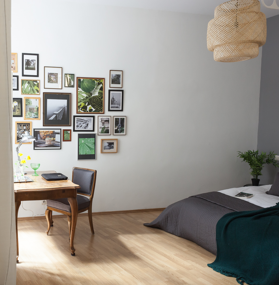 studio flat bedroom study