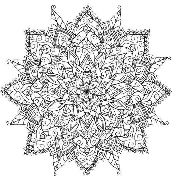 mandala flower art coloring book for grown ups