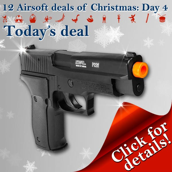 Sig Sauer P226 Airsoft Spring Pistol, 12 Airsoft Deals of Christmas, Pyramyd Air, Pyramyd Airsoft Blog, Tom Harris, Tominator,