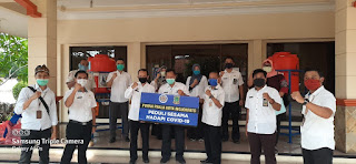 Tanggap Covid-19, Purna Praja Kota Mojokerto Serahkan Bantuan Wastafel Portable