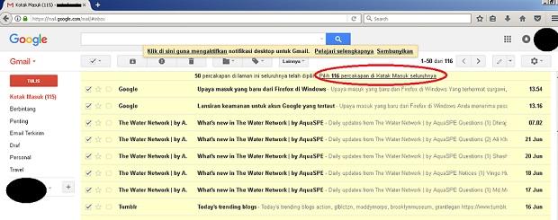 hapus total isi gmail jendela buwana