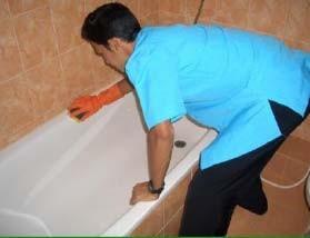 Gambar. Cara membersihkan bath tub