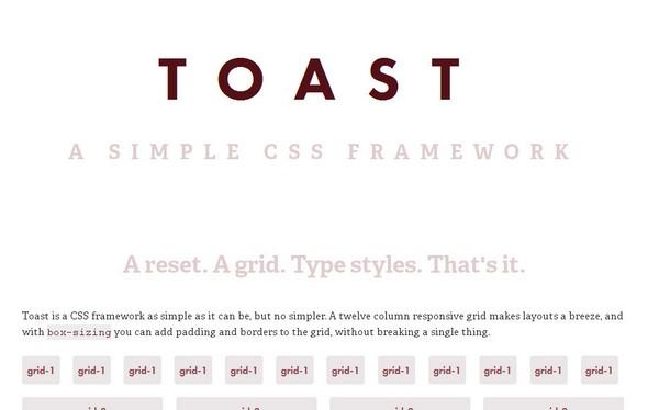 Toast Responsive Framework