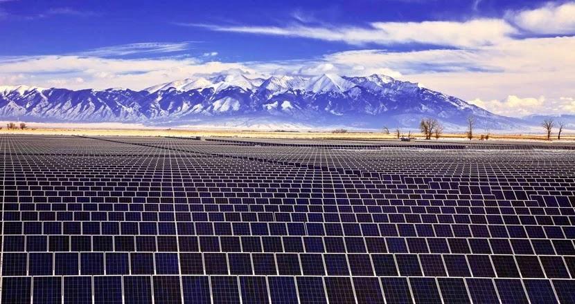 Solar panels park, Chile.