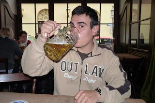 La típica cerveza de Múnich es de 1 litro.