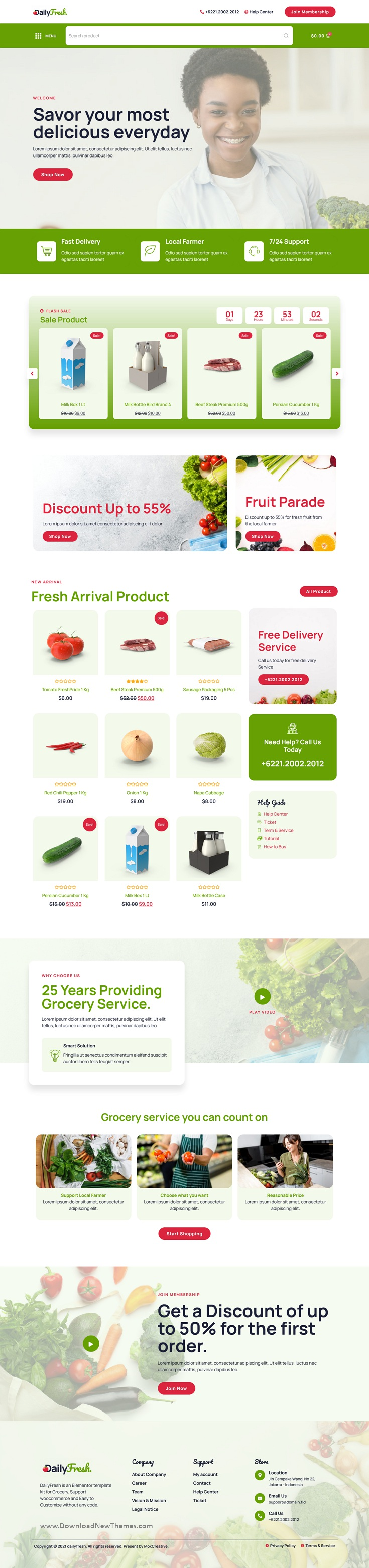 Grocery Store Elementor Template Kit
