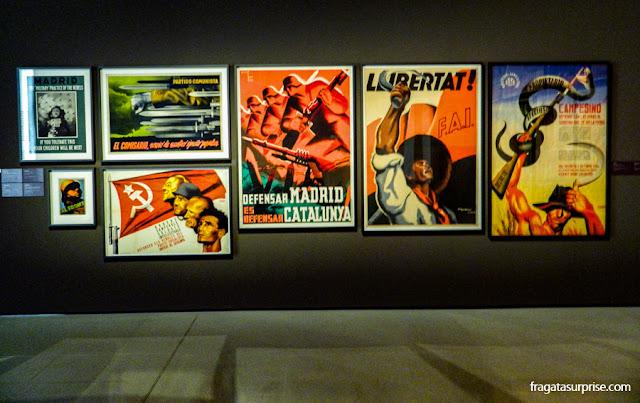Cartazes da Guerra Civil Espanhola no MNAC de Barcelona