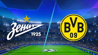 مشاهدة مباراة بوروسيا دورتموند ضد زينيت سانت بطرسبرج 8-12-2020 بث مباشر في دوري ابطال اوروبا