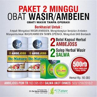 obat wasir de nature paket 2