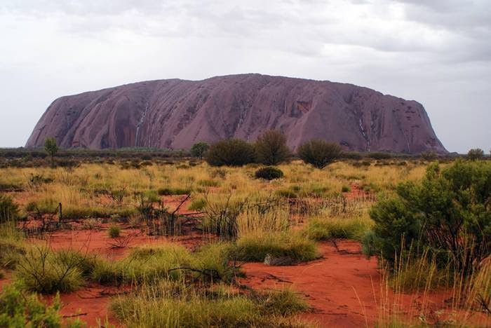 Uluru, also known as Ayers Rock, is a large sandstone rock formation in the southern part of the Northern Territory, central Australia.