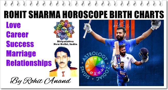 Indian Cricketer Rohit Sharma Zodiac Horoscope Birth Charts Janam Kundli Analysis by Rohit Anand