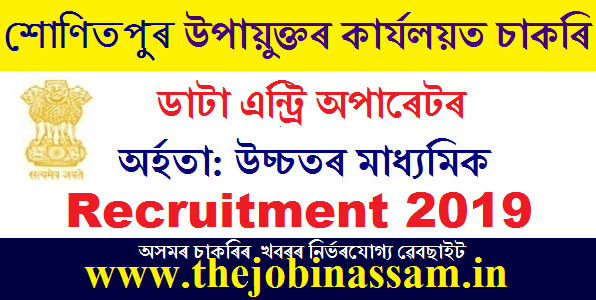 DC Office, Sonitpur Recruitment 2019: 05 Data Entry Operator [Walk-in-interview]
