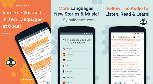 Beelinguapp Premium Apk - Learn Languages Music & Audiobooks 2.44 [Latest Version]