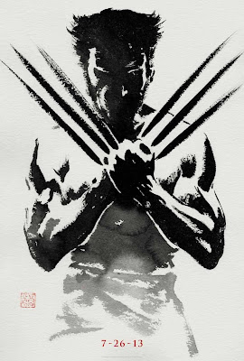 The Wolverine Sumi-e Character Movie Posters - Hugh Jackman as Wolverine