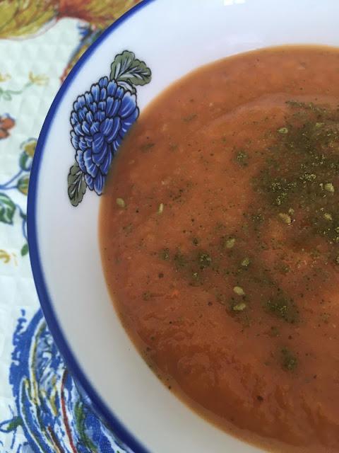 Persian eggplant soup