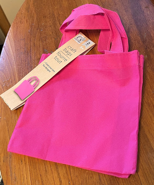 Photo of craft tote bag from Dollar Tree