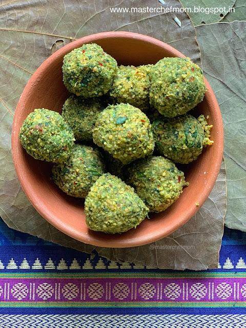 Cilantro Chutney Balls | Coriander Leaves Chutney Balls | Kothamalli Urundai | Gluten Free and Vegan